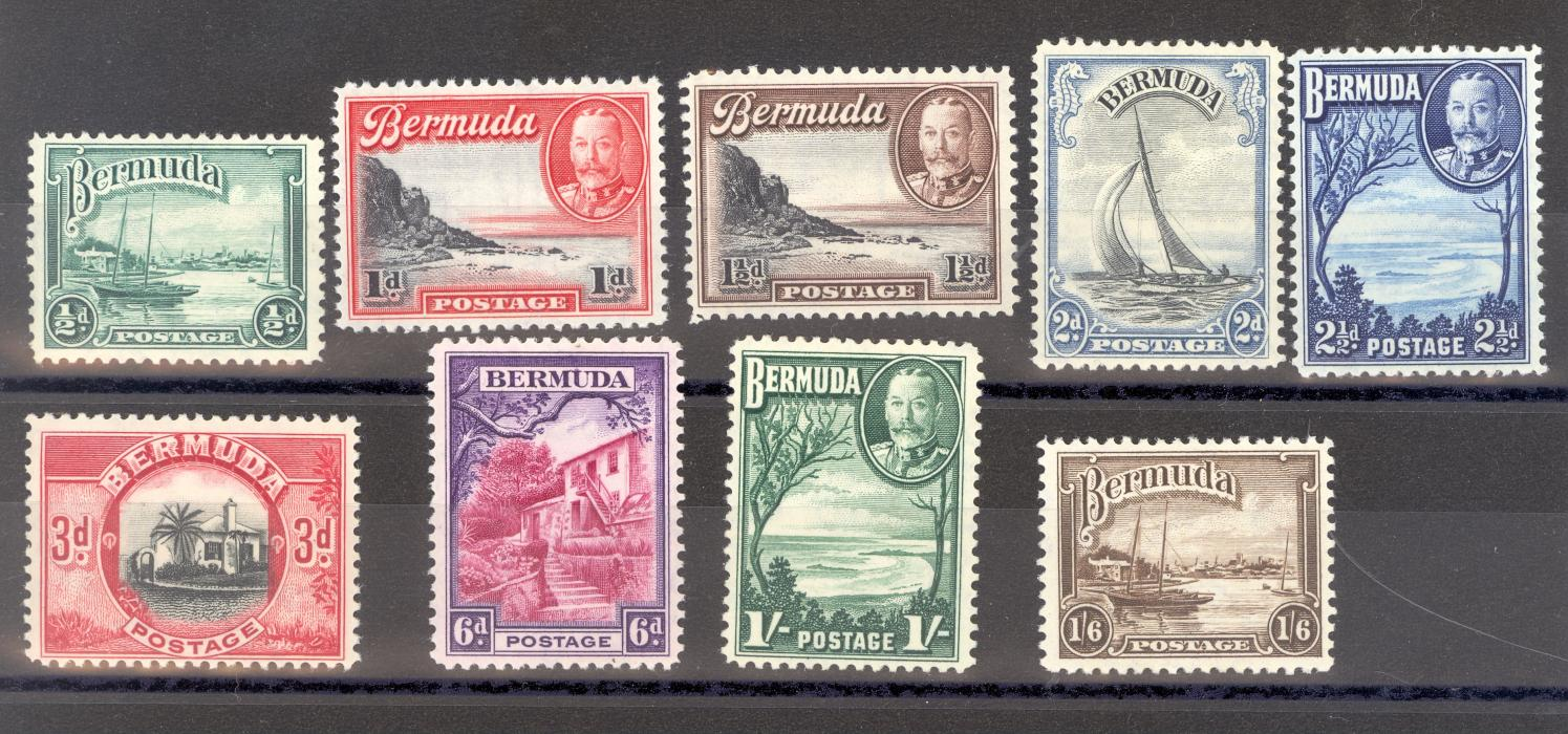 Bermuda SG 98-106 1936 GV Definitve Set Of 9. 