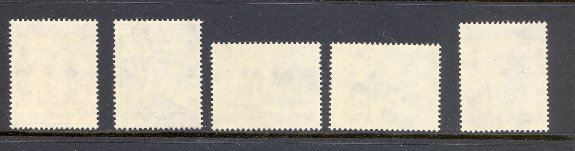 St Lucia SG 166-70 1960 Watermark Change Set of 5.