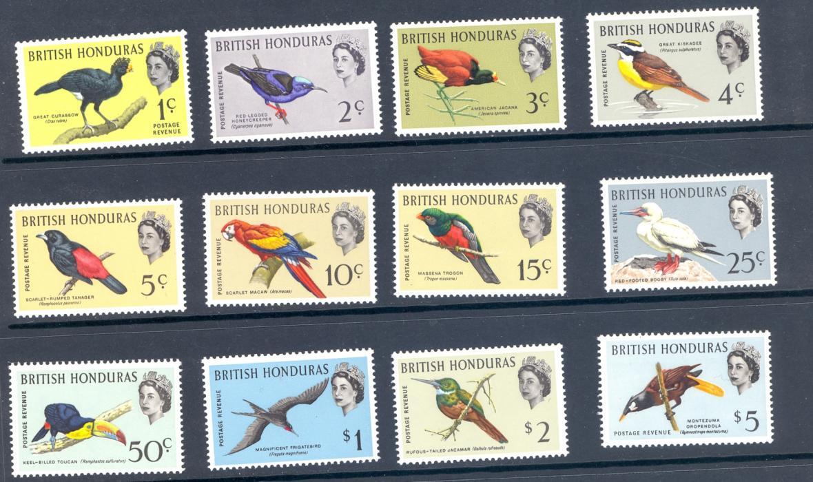 British Honduras SG 202-13 1962 Bird Set M/M