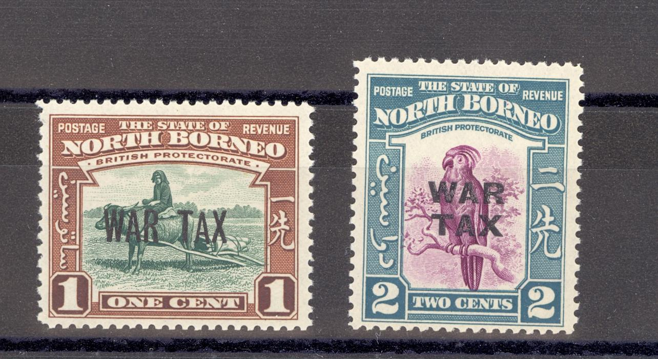 North Borneo SG 318-19 1941 War Tax Pair MNH