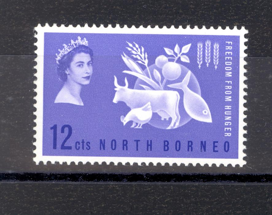 North Borneo Freedom From Hunger Stamp 1963 MNH