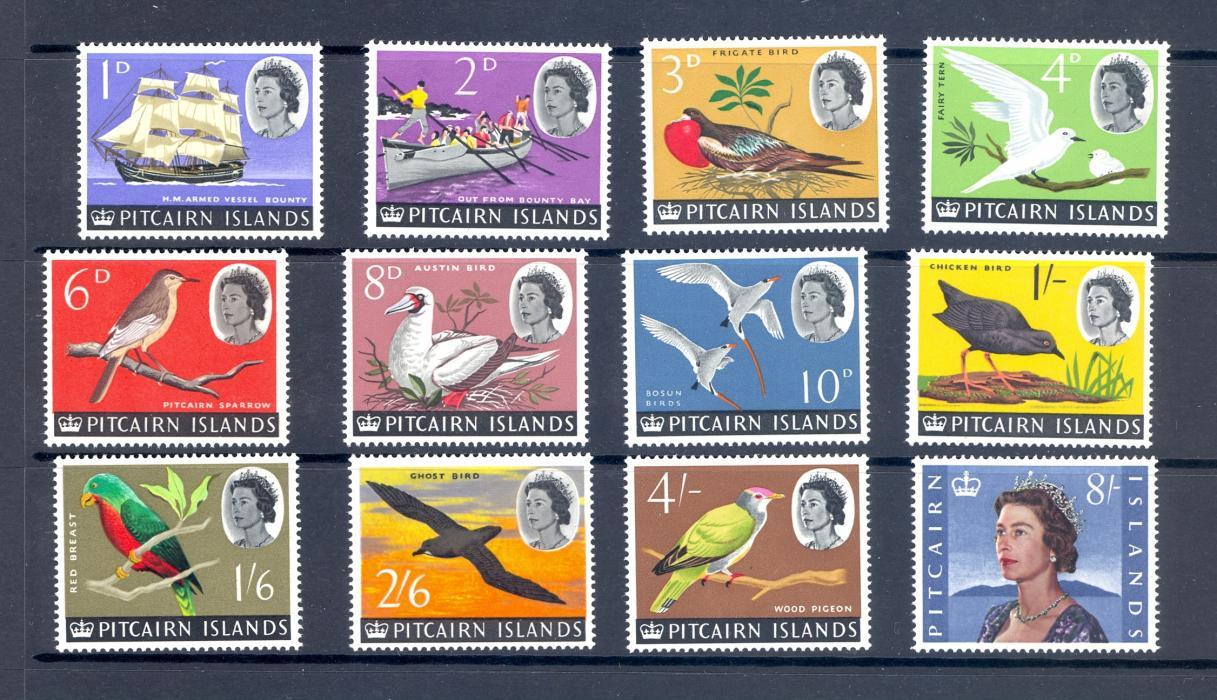 Pitcairn Island SG 36-48 1964 Birds Definitve Set Unmounted Mint