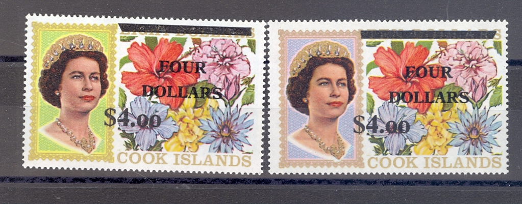 Cook Islands Sg 335-6 1970 High Values Without Security Markings