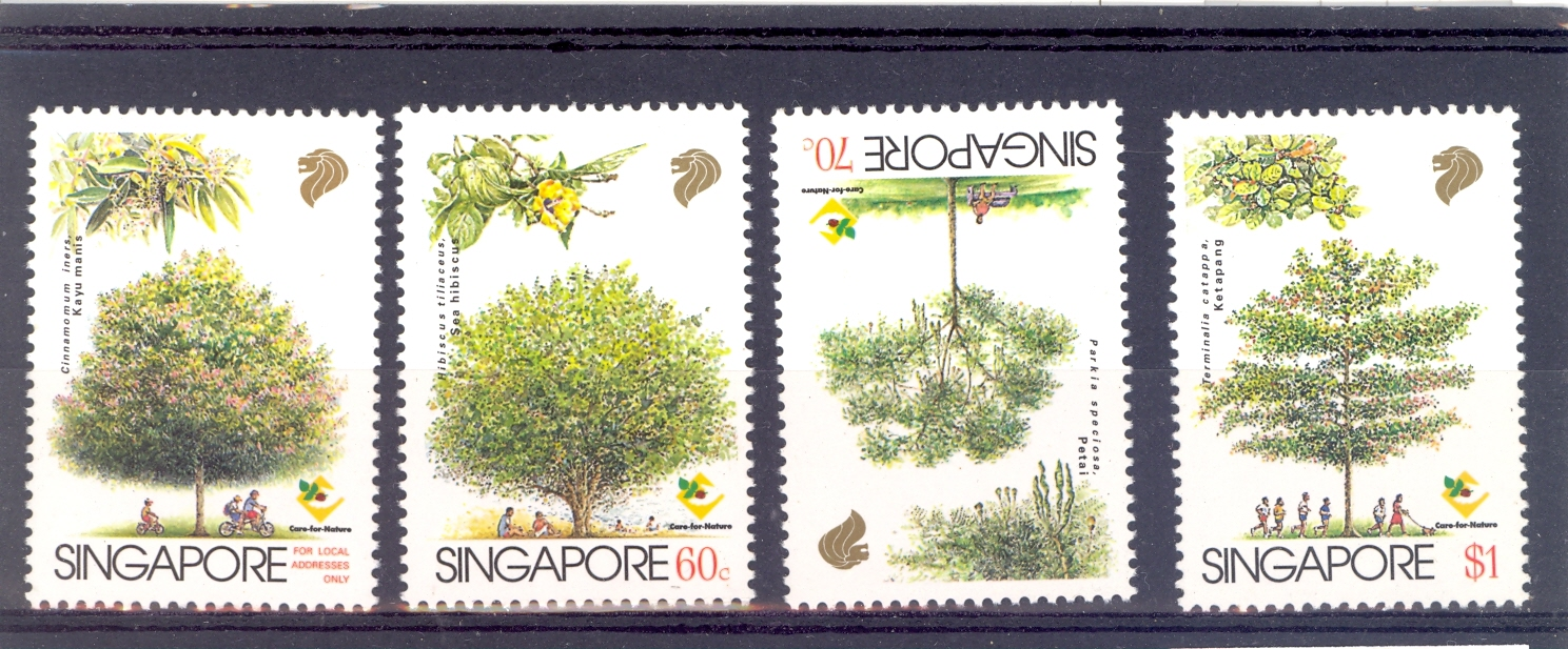 Singapore SG 850-3  1996 Trees Set MNH