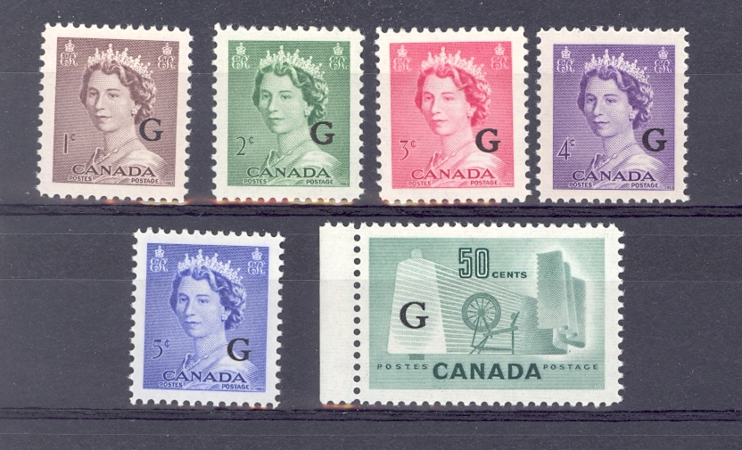 Canada  SG 0196-201a 1953 Official Unmounted Mint.