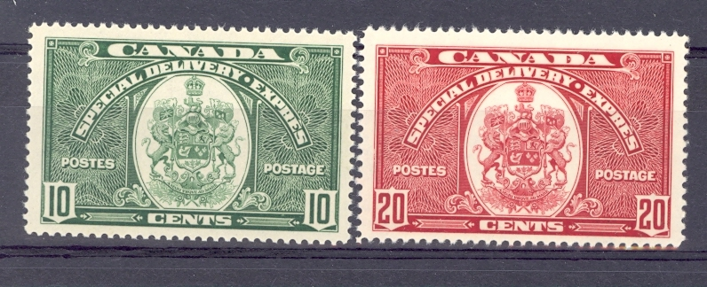 Canada Special Delivery Pair SG S 9-10     Unmounted Mint.