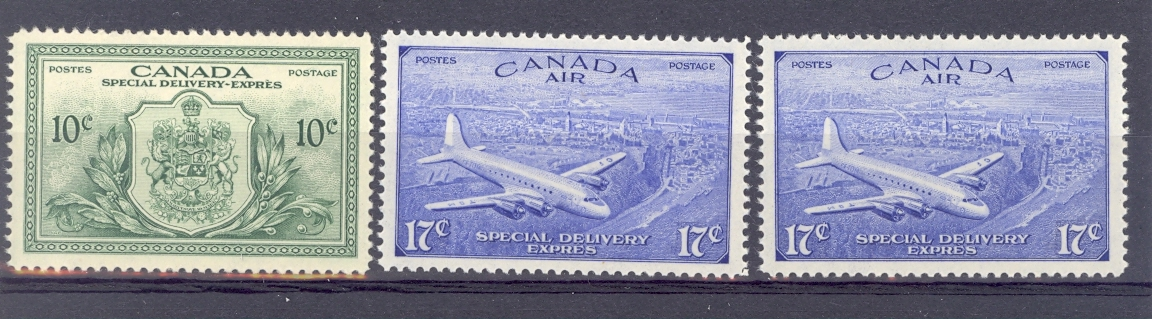Canada Special Delivery SG S15-17  GVI 1946 Set of 3. Unmounted Mint.