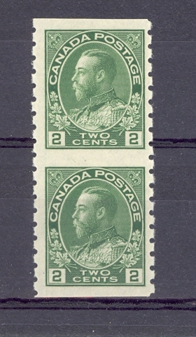 Canada SG 257b Coil Pair Unmounted Mint