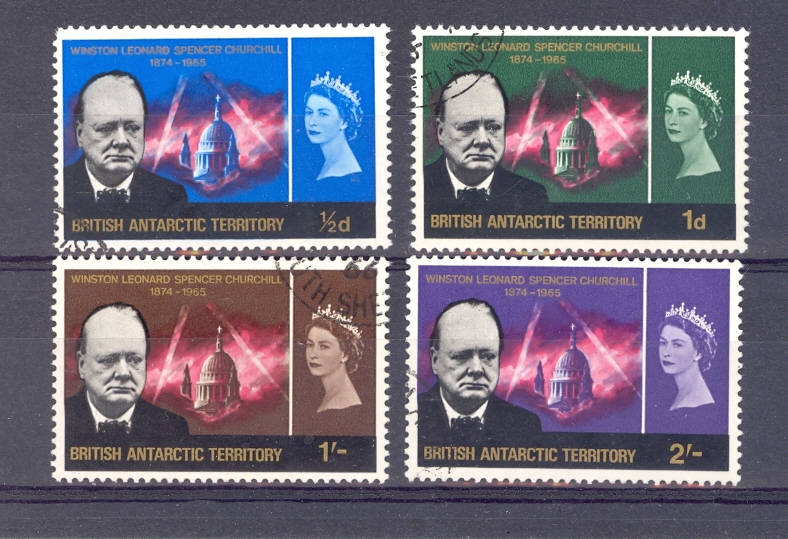 British Antartic Territory Churchill Set SG 16-19 1966 Fine Used.