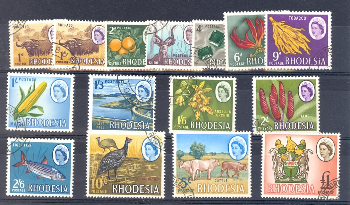 Rhodesia SG 374-87 1966 Set of 14. Fine Used.