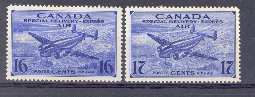 Canada 1942 SG S 13-14 Lockhead Lodestar Pair  Mounted Mint.