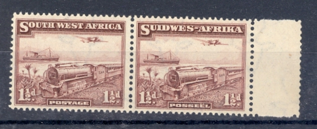 SOUTH WEST AFRICA SG 96 1937 TRAIN PAIR UNMOUNTED MINT