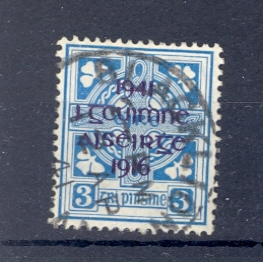 Eire SG 127 1941 GVI 3D Blue Used