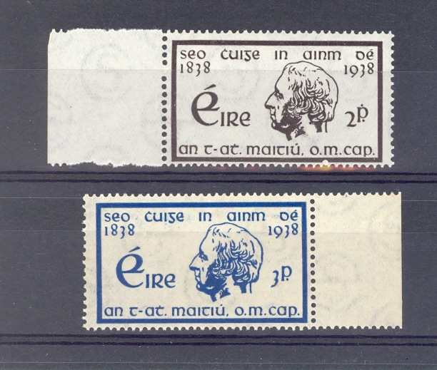 Ireland SG 107-8 1938 Temperance Crusade Unmounted Mint
