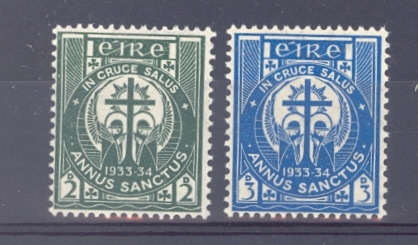Ireland SG 96-7 1933 Holy Year Unmounted Mint