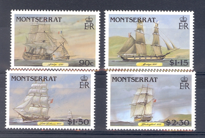 Montserrat SG 696-699 Mail Packet Sailing Ships Unmounted Mint