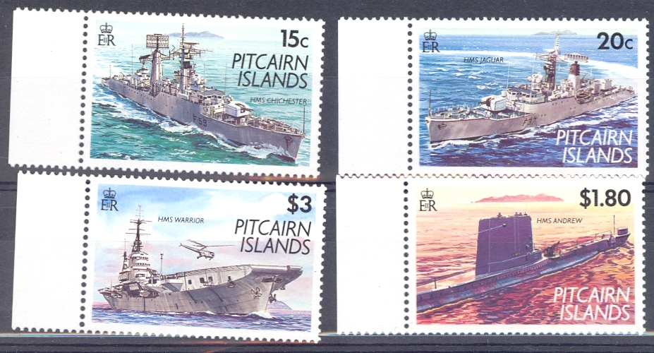 Pitcairn Islands SG 426-9 1993 Modern Naval Vessels Unmounted Mint.