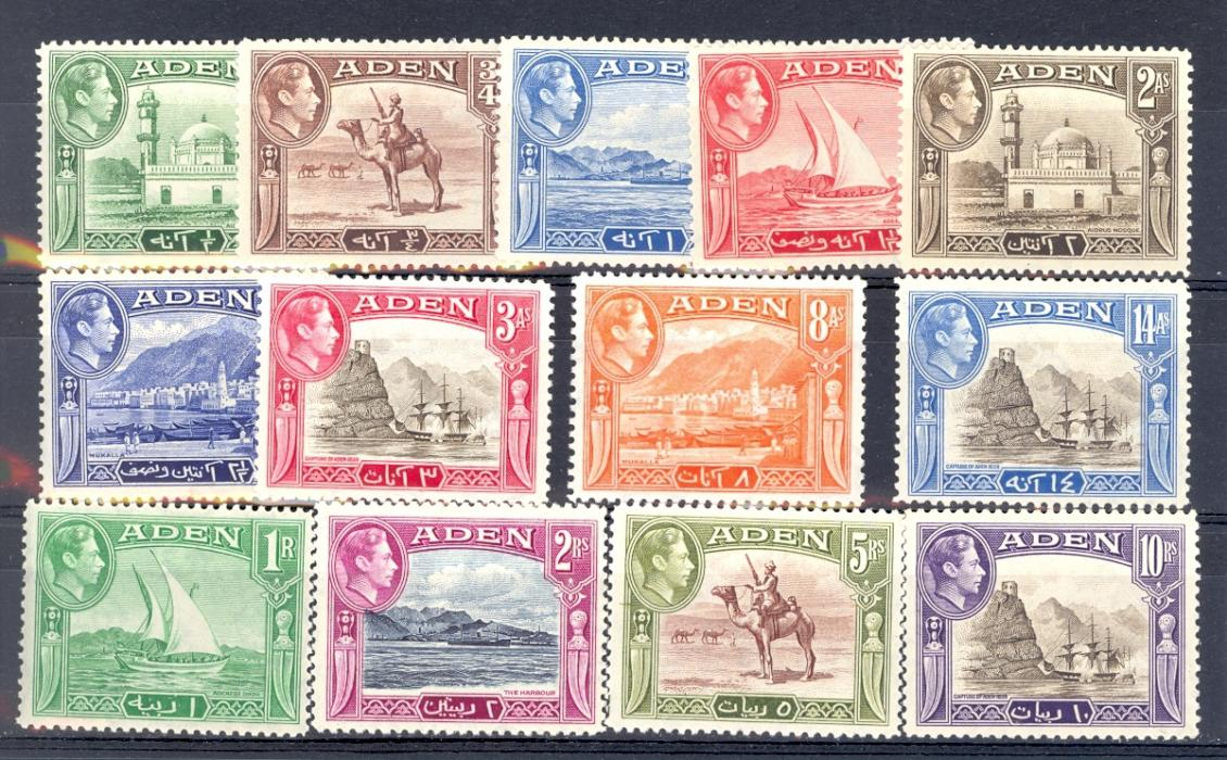 Aden SG 16-27 1939 Definitive Set. Lightly Mounted Mint