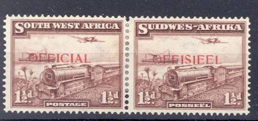 South West Africa 1938 GVI Official SG O17. Lightly Mounted Mint.