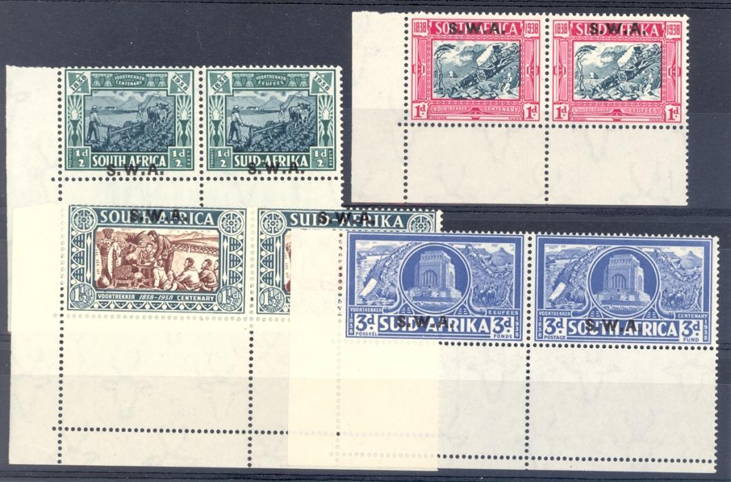 South West Africa SG 105-8 GVI 1938 Vortrekker Set Is Unmounted Mint.