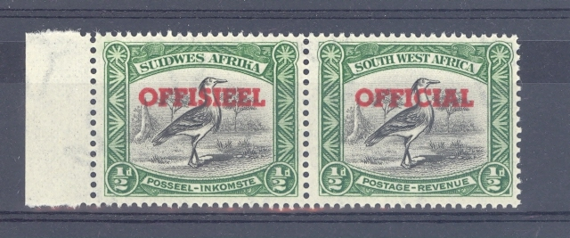 South West Africa SGO23 GVI 1951 Official Overprint on the Bird Stamp. Unmounted Mint.