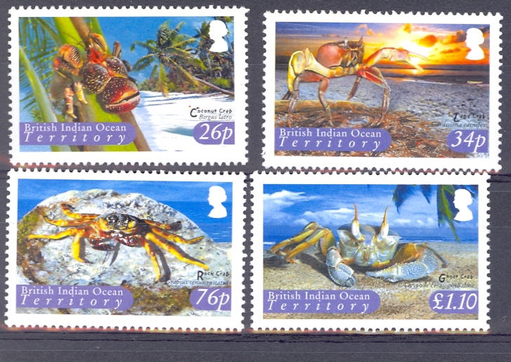 British Indian Ocean Territory SG 308-11 2004 Crabs Set. Unmounted Mint