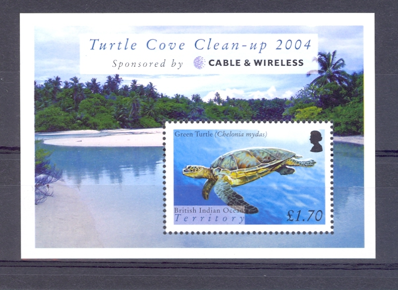 British Indian Ocean Island Territory SG MS 318 Turtle Cove Miniature Sheet. Unmounted Mint