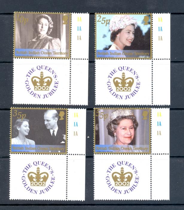 British Indian Ocean Territory SG 261-264 2002 