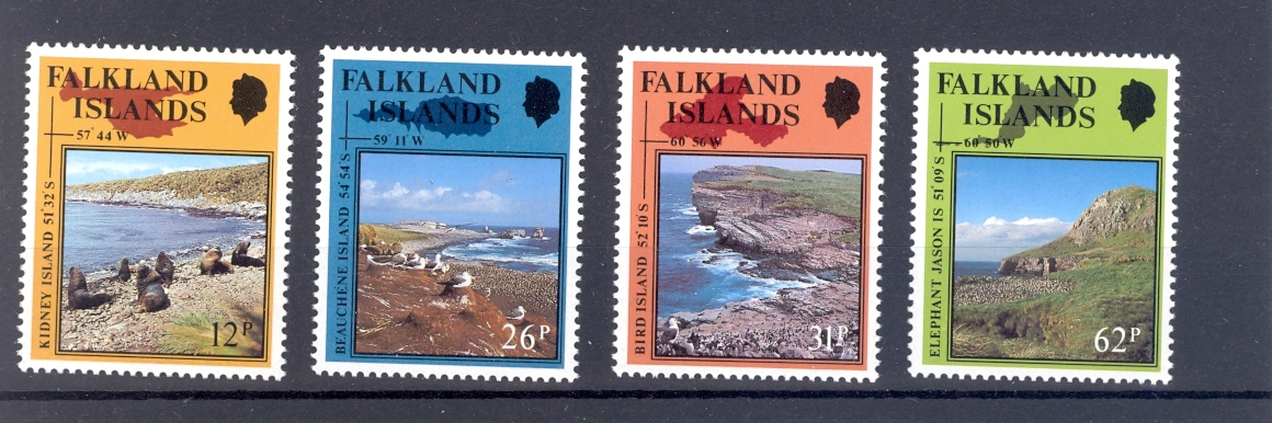 Falkland Islands SG 597-600 Nature Reserves & Sandunes 1990. Unmounted Mint
