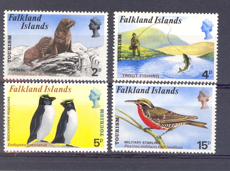 Falkland Islands SG 296-299 Tourism Set. Unmounted Mint