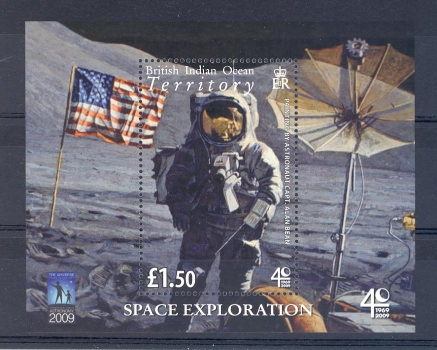 British Indian Ocean Territory 2009 Space Exploration Minaiture Sheet. Unmounted Mint
