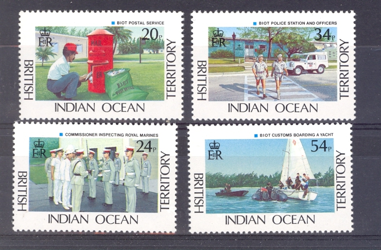 British Indian Ocean Territory SG 111-114 1991 Administration Set Unmounted Mint.