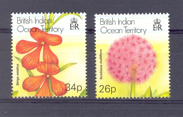 British Indian Ocean Territory SG 257-258 Flowers