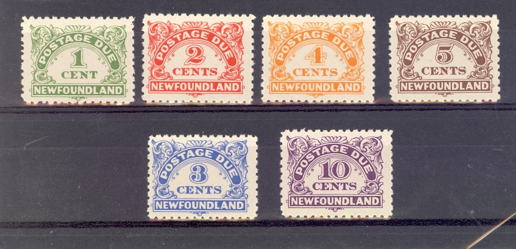 Newfoundland SG D1-6 GVI Postage Dues Unmounted Mint.