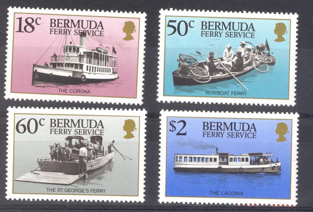 Bermuda SG 574-577 1989 Ferry Services MNH