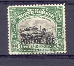 North Borneo Postage Due  SG D67  1926 Fine Used