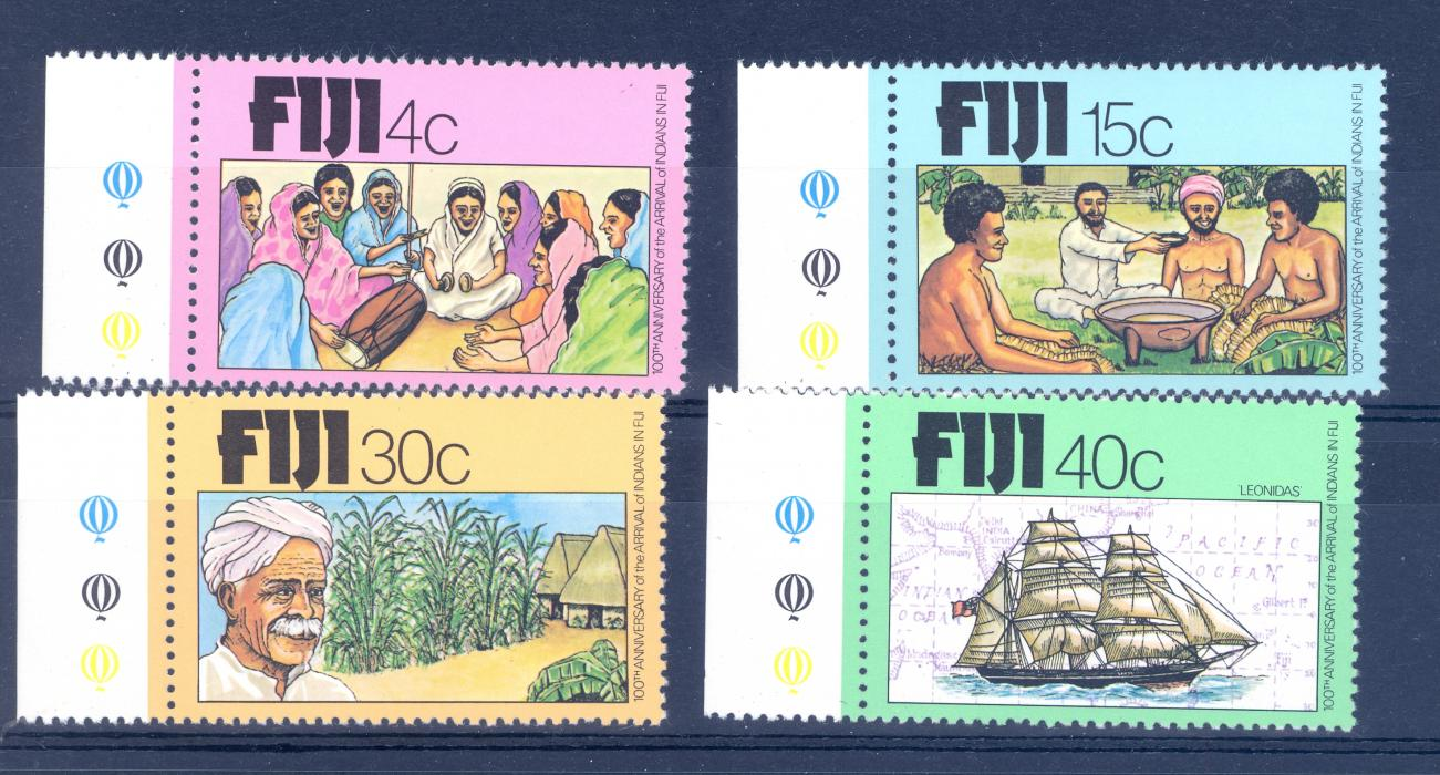 Fiji SG 568-571 1979 Centenary of the Arrival of Indians. MNH