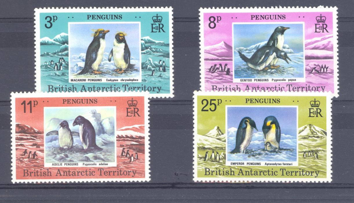 British Antactic Territory SG 89-92 1979 Penguins set. MNH