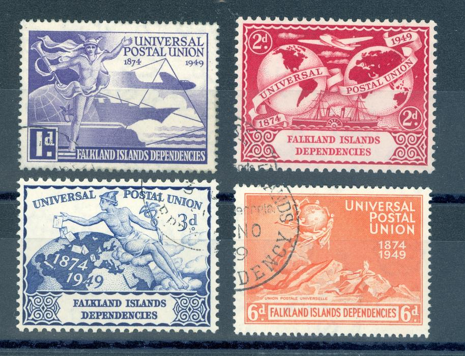 Falkland Island Dependencies 1949 U.P.U. Set. Fine Used
