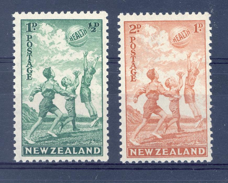 New Zealand SG 626-7 GVI 1940 Health Pair L/M/M