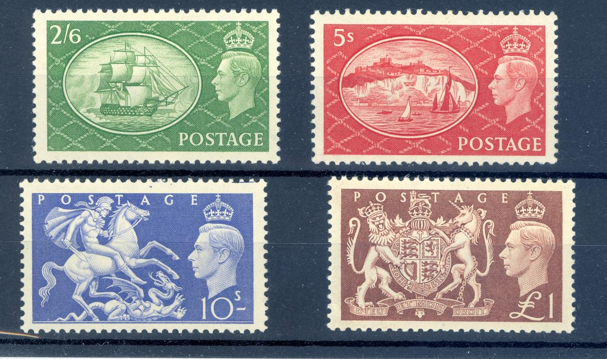 Great Britain SG 509-12 GVI 1950 Festivals Set High Values Only MNH