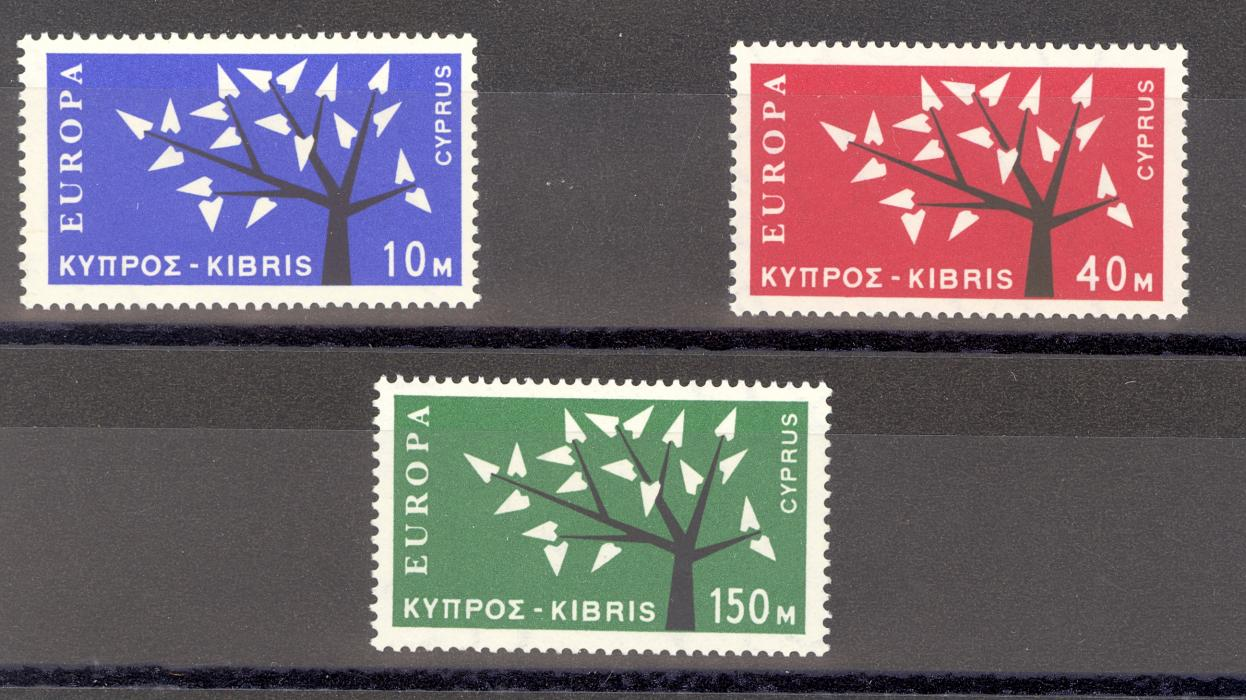 Cyprus SG 224-6 1963 Europa Stamps