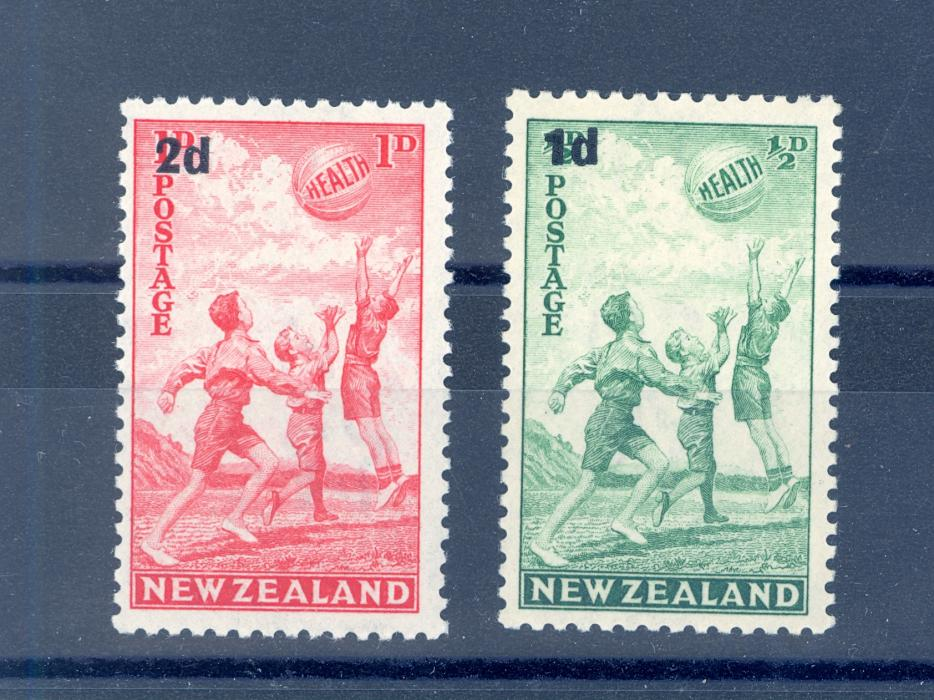 NEW ZEALAND SG 611-612 1939 GVI HEALTH STAMPS MNH