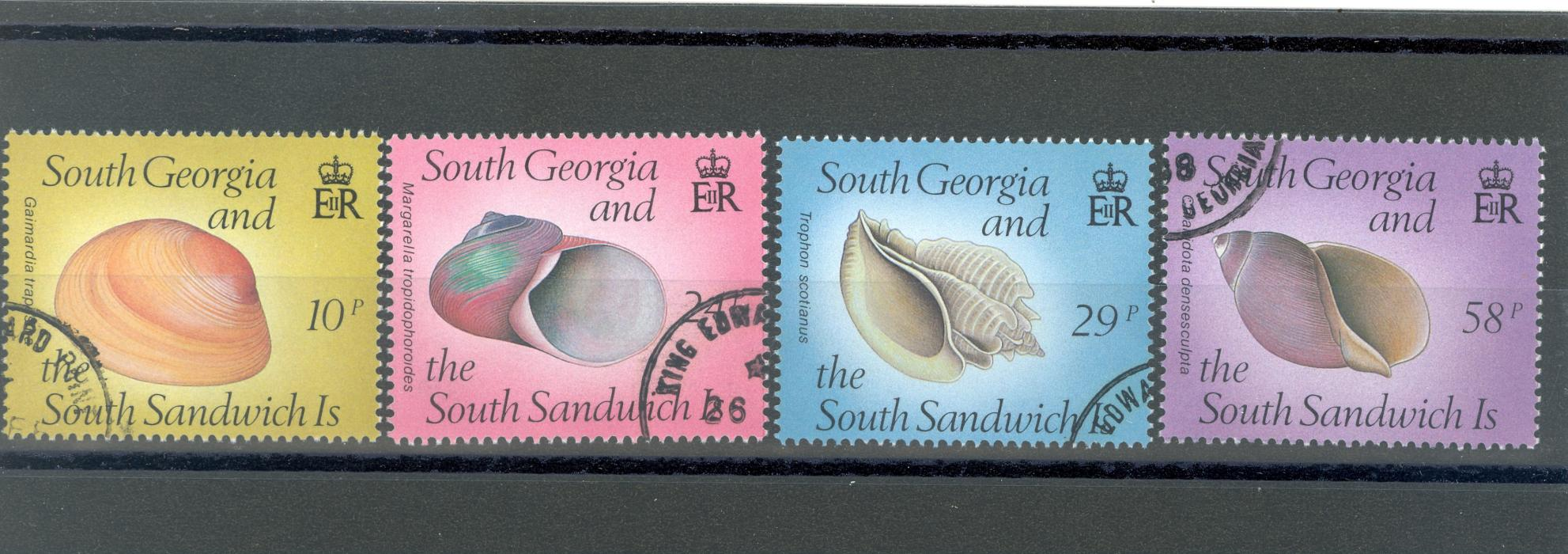 South Georgia & South Sandwich Islands SG 179-182 1988 Sea Shells Fine Used