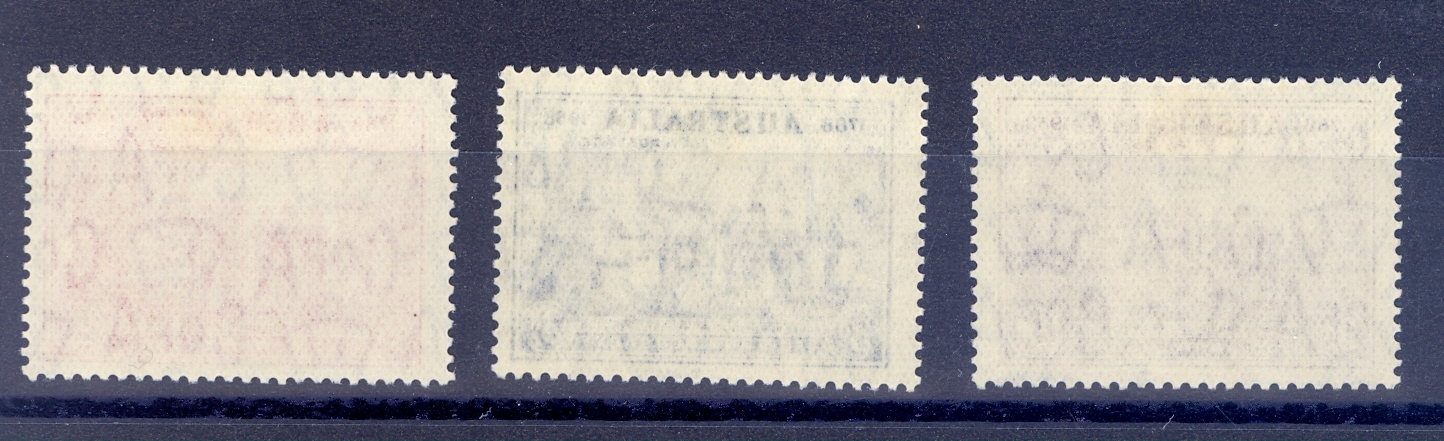 Australia SG 193-95 1937 150th Anniversary of the Founding of New South Wales. Lightly M/M