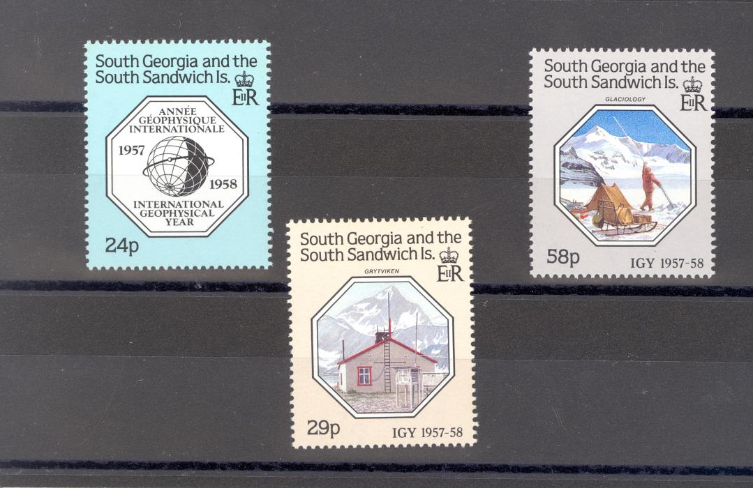 South Georgia SG 176-8 1987 Anniversary of Geophysical Year MNH