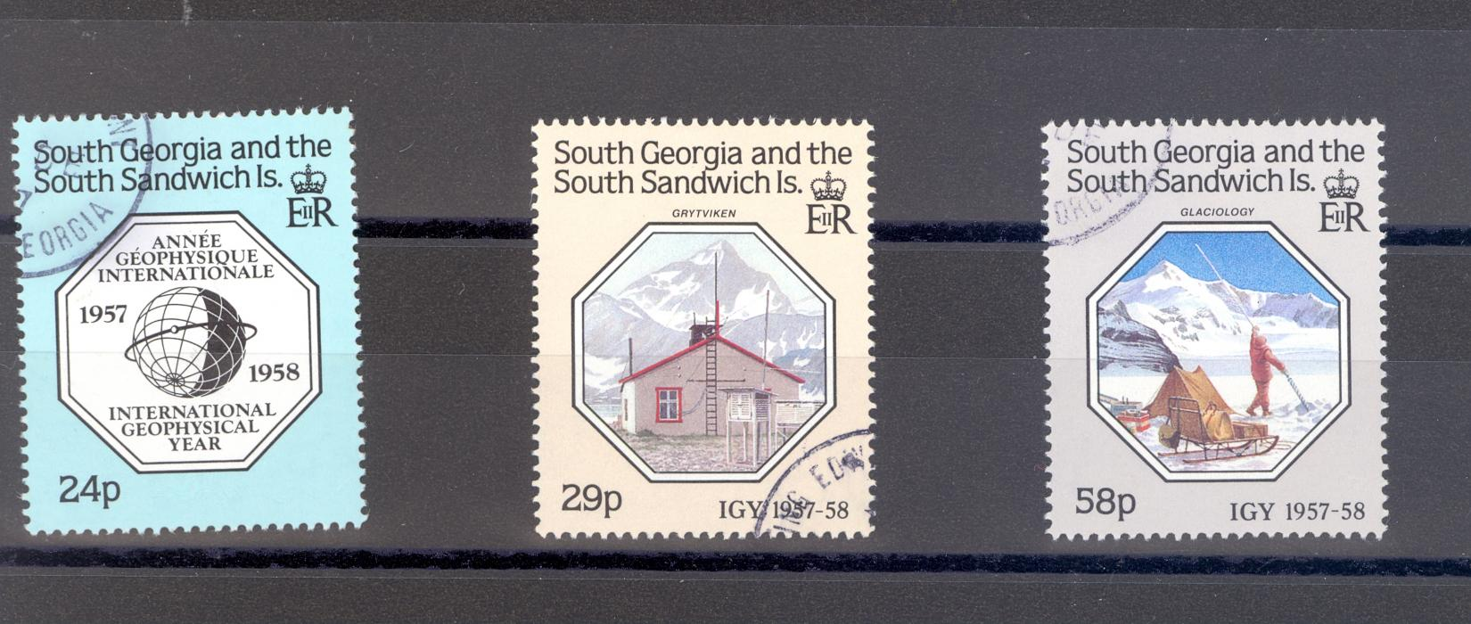 South Georgia SG 176-8 1987 Anniversary of Geophysical Year Used