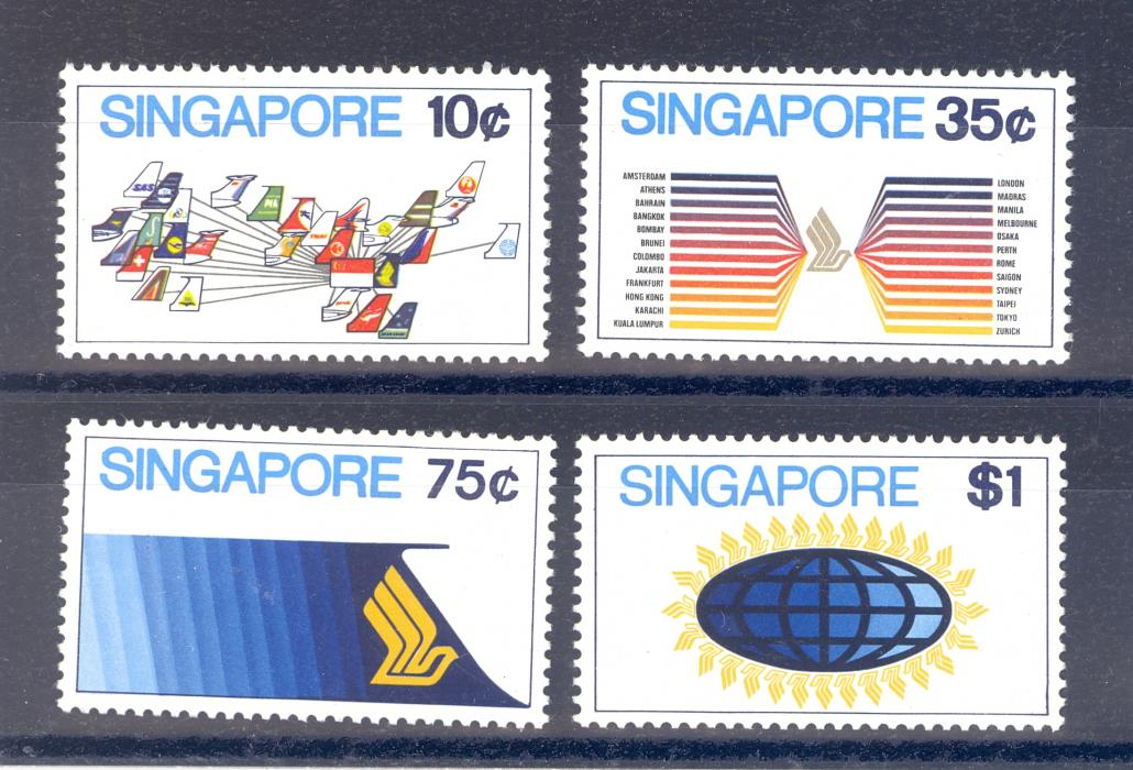 Singapore SG 197-200 1973 Aviation Set. MNH