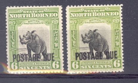 North Borneo SG D59 & D 61 Two Different Shades. Unmounted Mint.