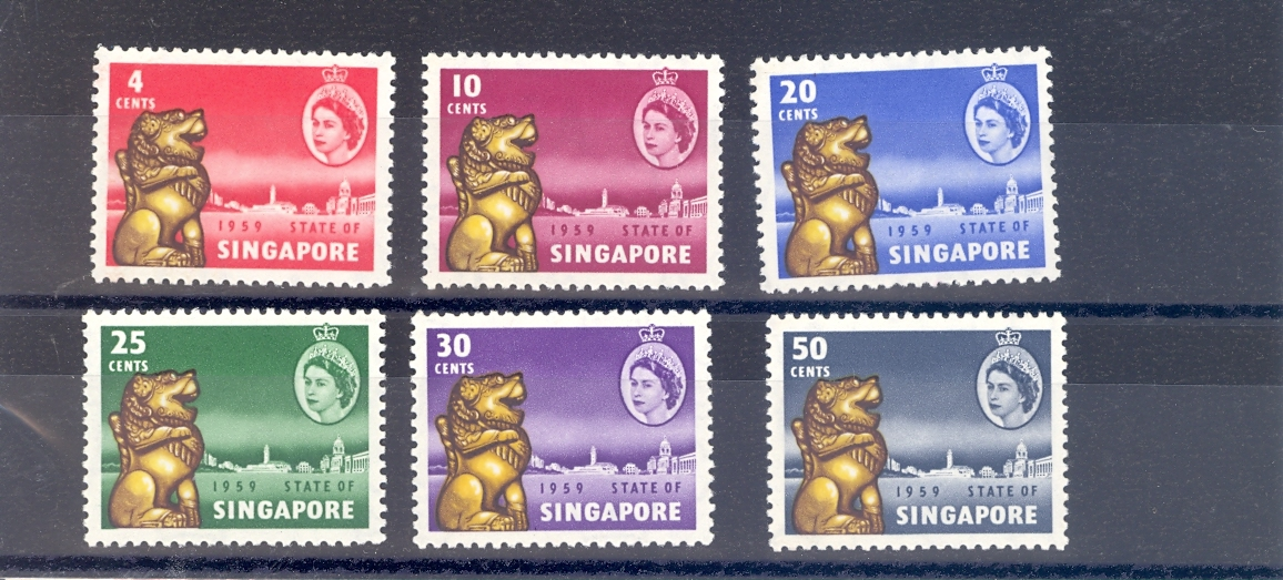Singapore SG 53-8  1959 New Constitution Set. MNH